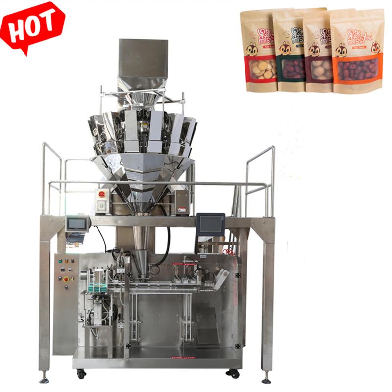 Pet Food Zipper Sac Pochette Premade Stand up Doypack Machine automatique d'emballage