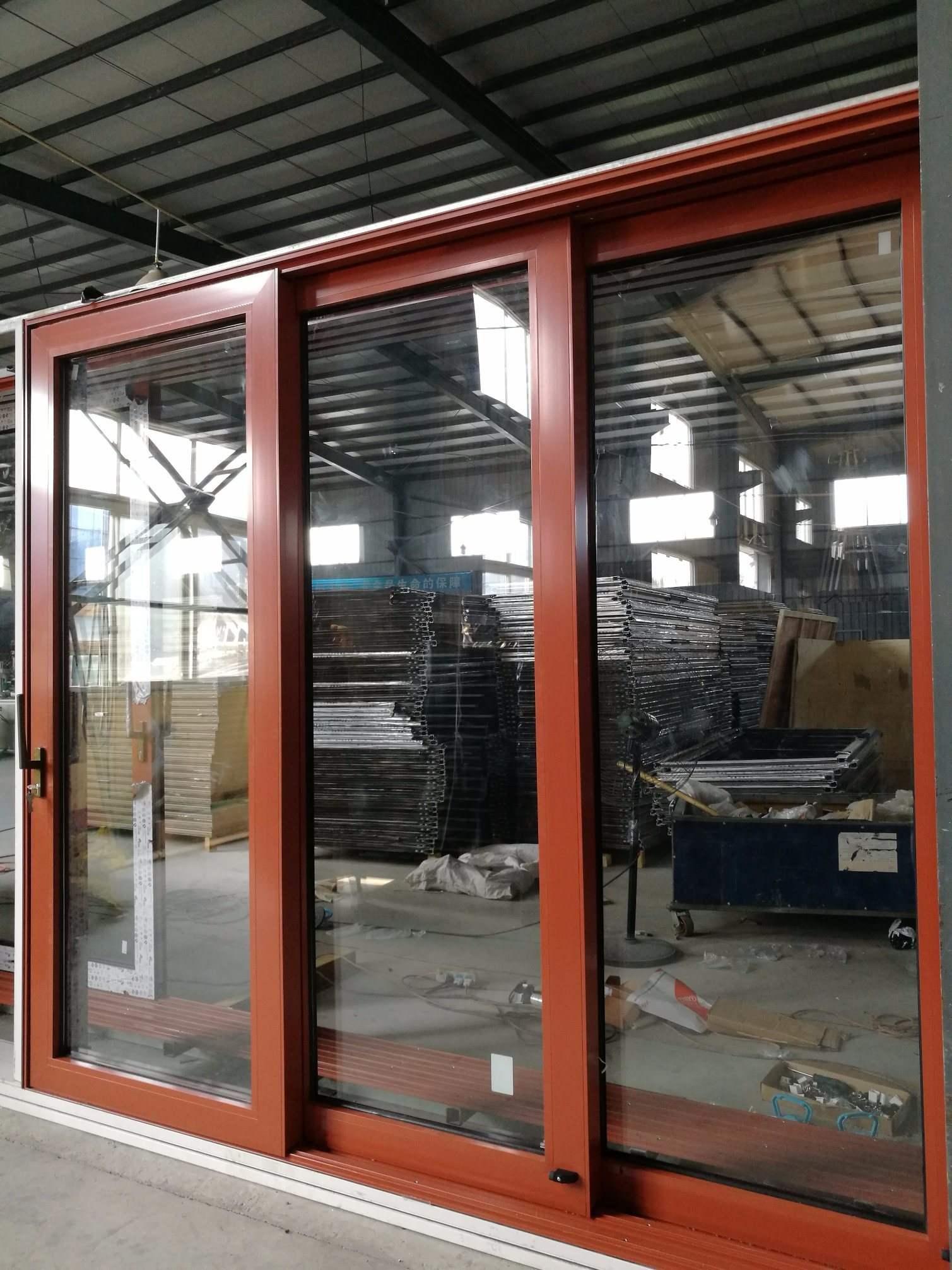 Foto De Bolsillo Corrediza De Aluminio Color Madera La Puerta De