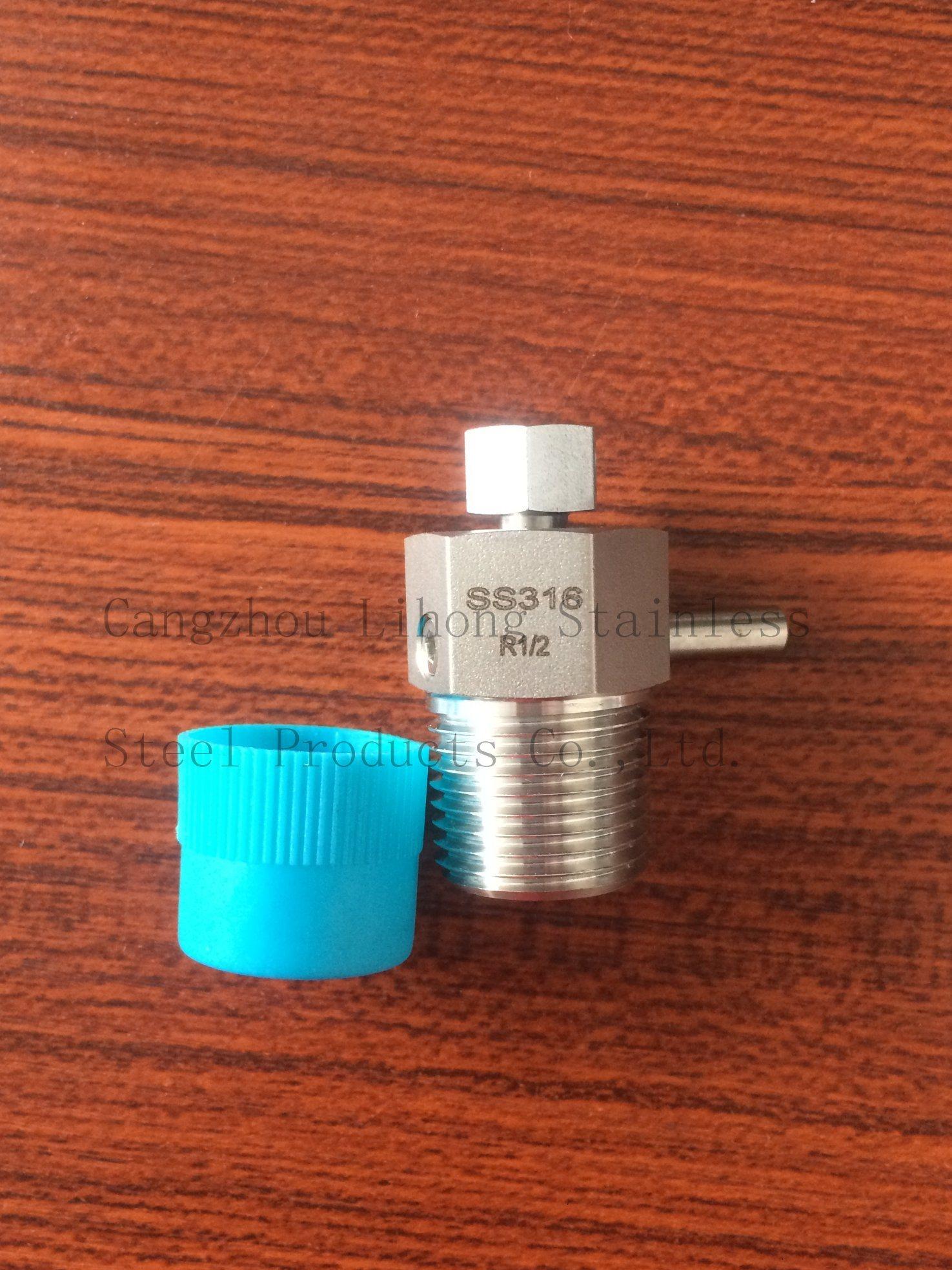 Raccordo per tubi in acciaio inox DIN2999 valvola di scarico