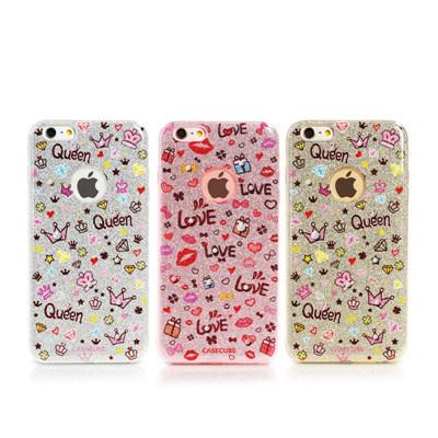 Heet het Verkopen Hirushihana Plainted TPU Geval voor iPhone 6s Plus/6 plus - Zilveren Rode Geplateerde Lip
