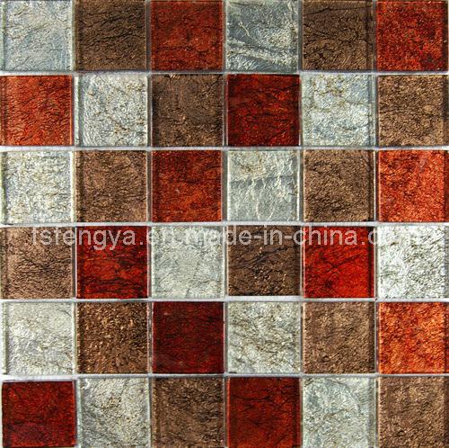Folha de ouro mosaico, Fronteira de parede de azulejos do mosaico de Cristal