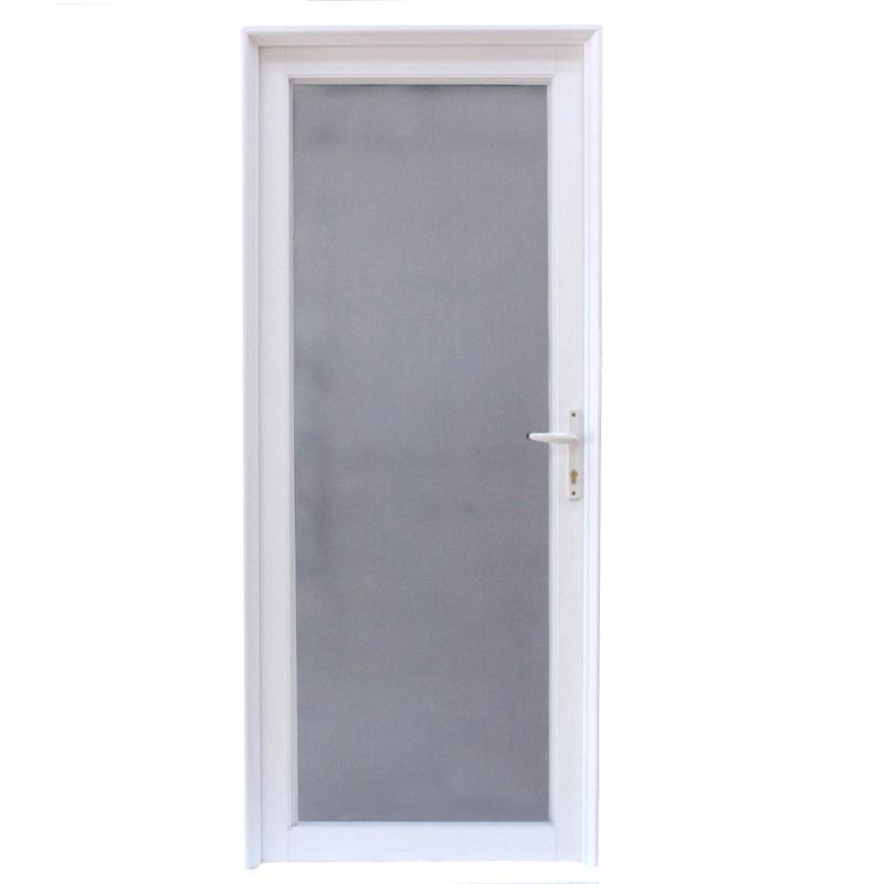 Puerta de aluminio revestida del marco del polvo blanco de la alta ...