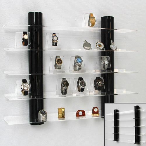 Visor de acrílico transparente decoração de armazenagem em prateleiras de parede para poupar espaço
