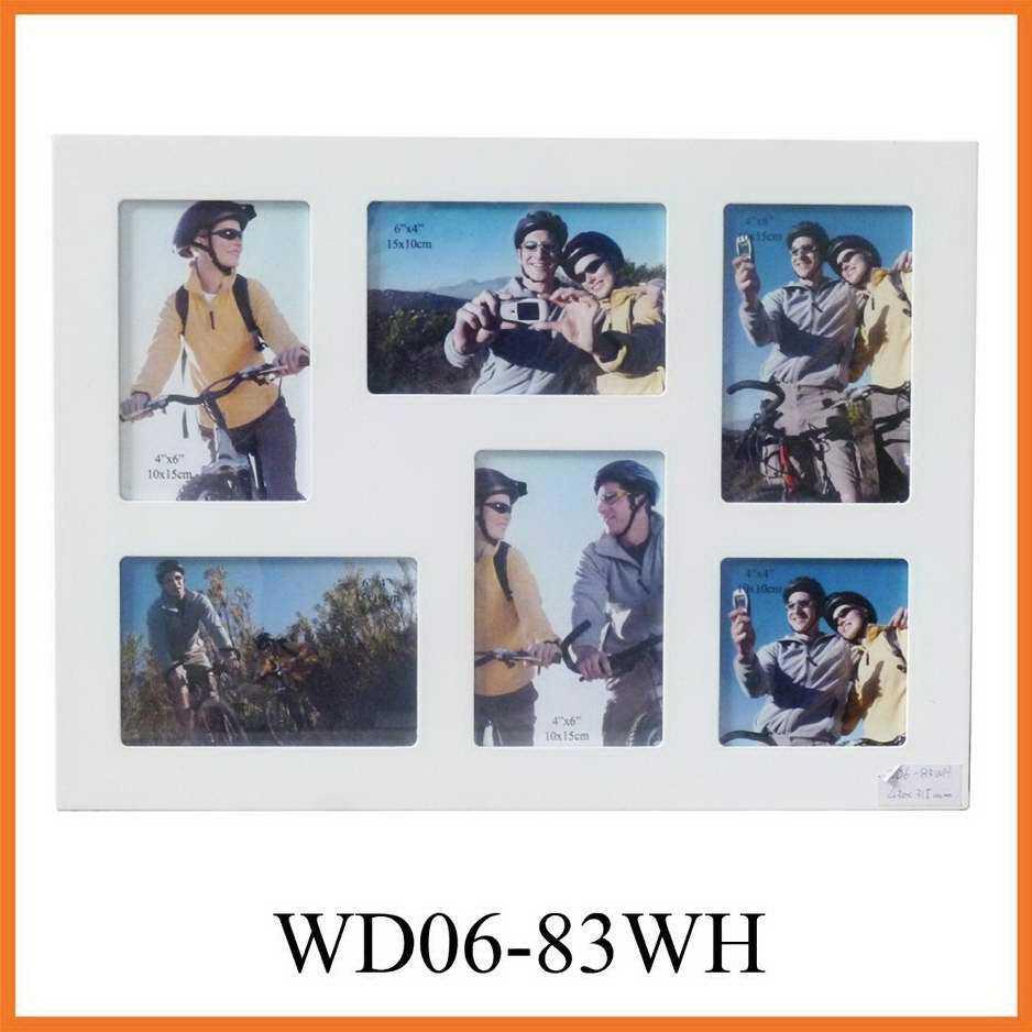 6 de la apertura de pared de madera blanca Marcos de fotos del ...
