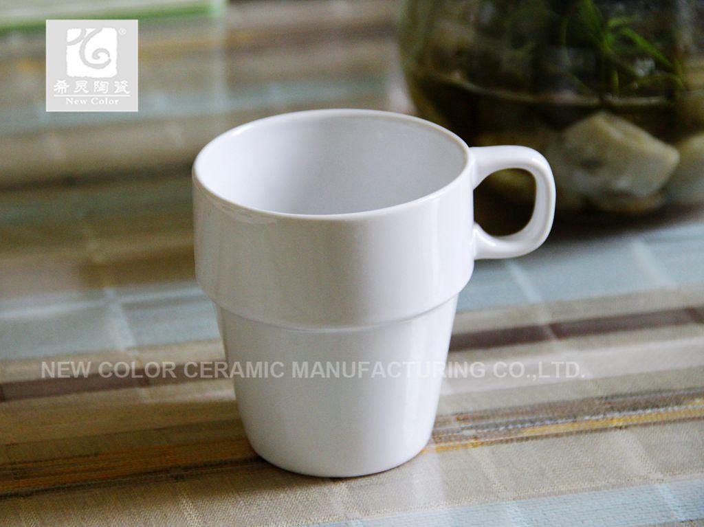 최신 판매 사기그릇 쌓을수 있는 커피잔 10oz