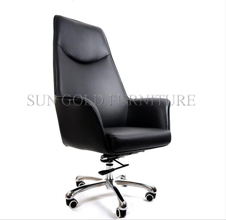 Moderner Hoher Grad Leder Hersteller Schwenker Direktionsbüro Stuhl