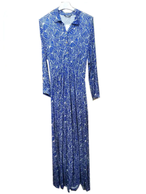 Gepersonaliseerde High Quality Knitting Long Sleeve jurk voor dames