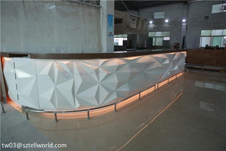 9ff66b6cc Contador de loja de design de mobiliário de LED de iluminação Bar moderno  Bar Counter