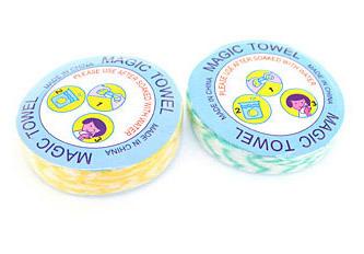 Asciugamano in cotone/compresso