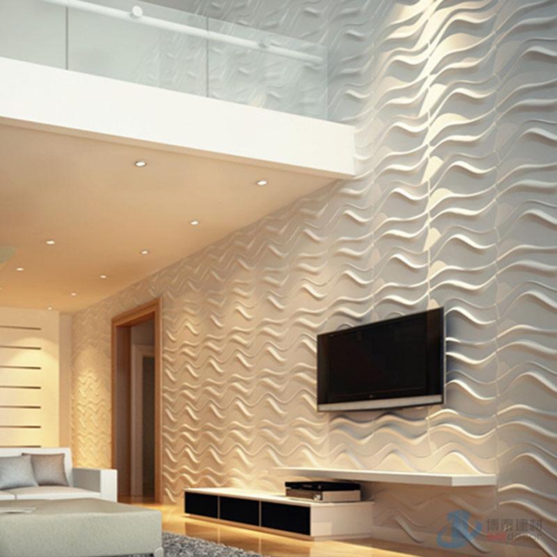 O pvc decorativas 3d revestimento de paredes fire proof for Revestimiento paredes interiores pvc