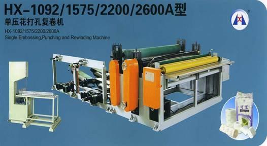 Einzelne Prägung, Lochen und Rückspulenmaschine (HX-1092, 1575)