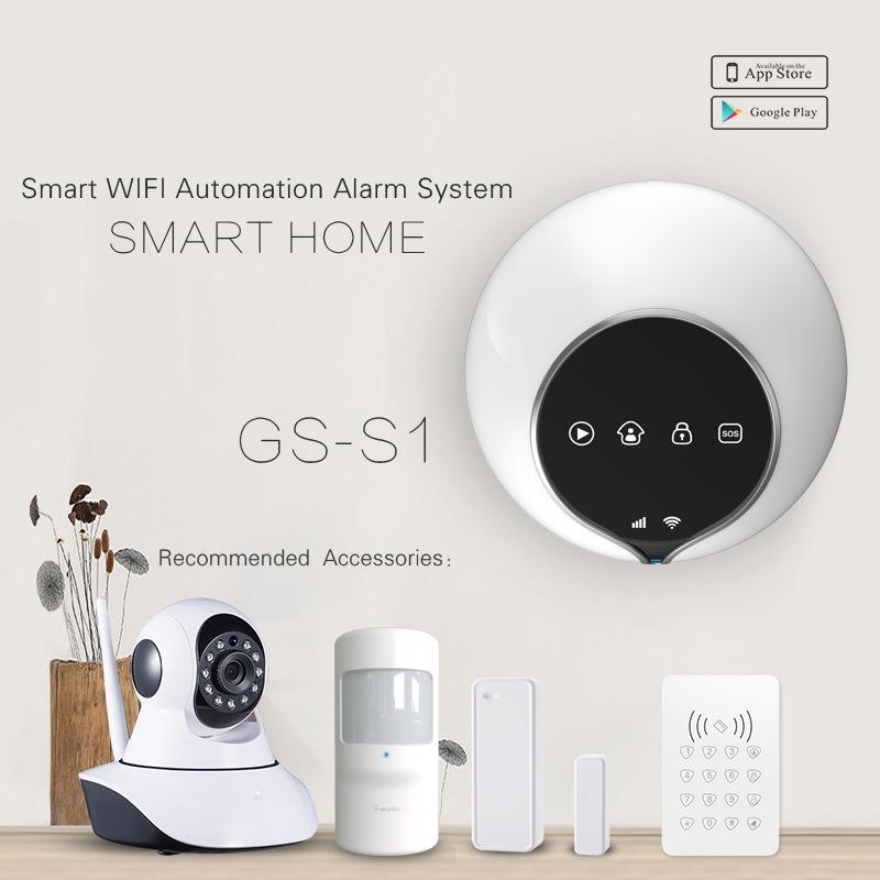 Nouvelle et chaude Accueil SMS intelligent simple système de sécurité du système d'alarme WiFi