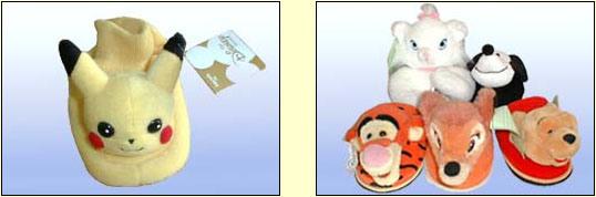 장난감 기술 슬리퍼 (만화 슬리퍼)