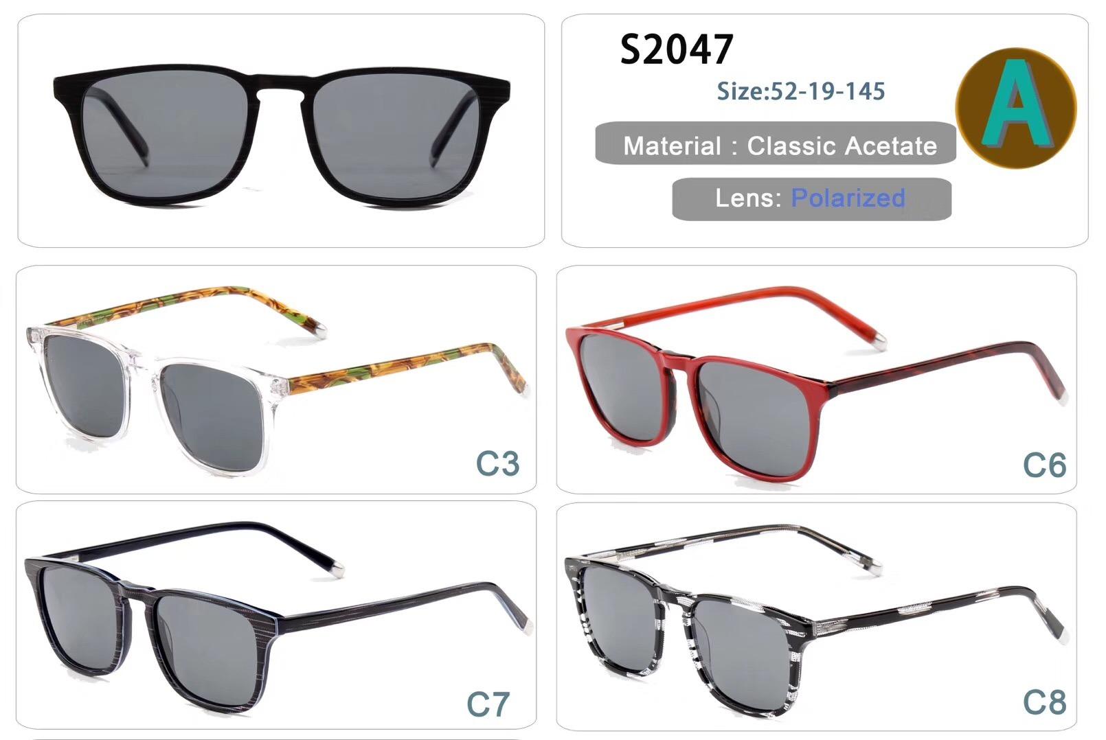 アセテートのサングラス
