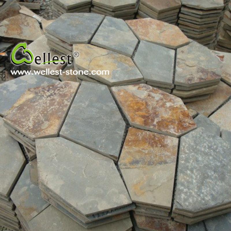 Foto de piedra natural exterior pavimento r stico lajas - Pavimento rustico exterior ...