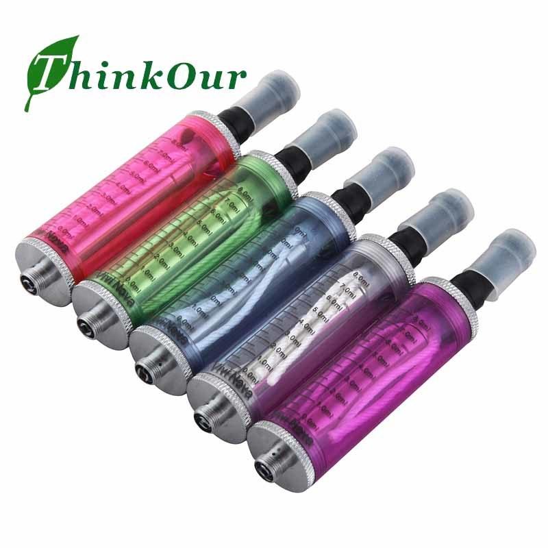 8ml Vivi Nova Clearomizer/Atomizador com duas longas Wick Cabeça da bobina para cigarros/ E Sisa