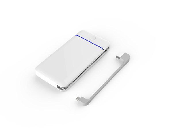 10200mAh de polímero de litio de Banco de potencia Universal cargador portátil con cable integrado