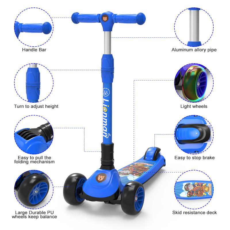 2018人の新しいデザイン子供の子供の蹴りの小型フィートのフォールドのスクーター(XLM-L-006S)