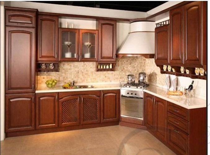 La cereza roja de madera s lida marrones color de dise o for Decoracion de gabinetes de cocina