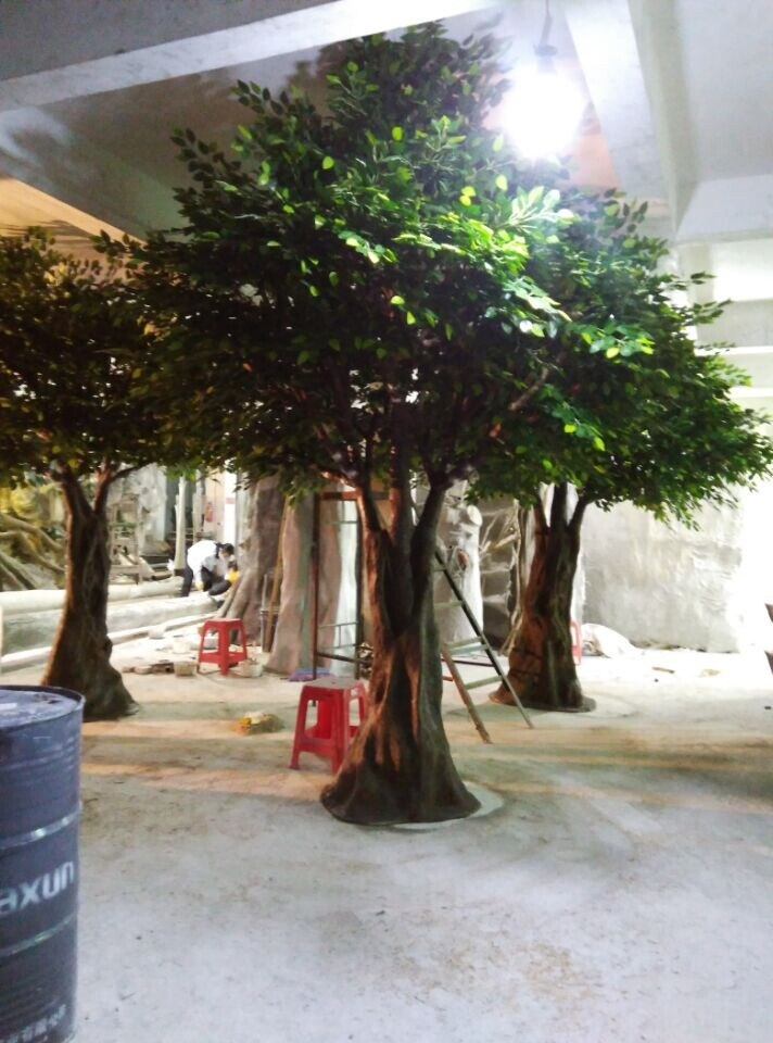 Nouveau design Ornement de jardin de plantes artificiels Ficus arbre Banyan  Tree pour décor extérieur