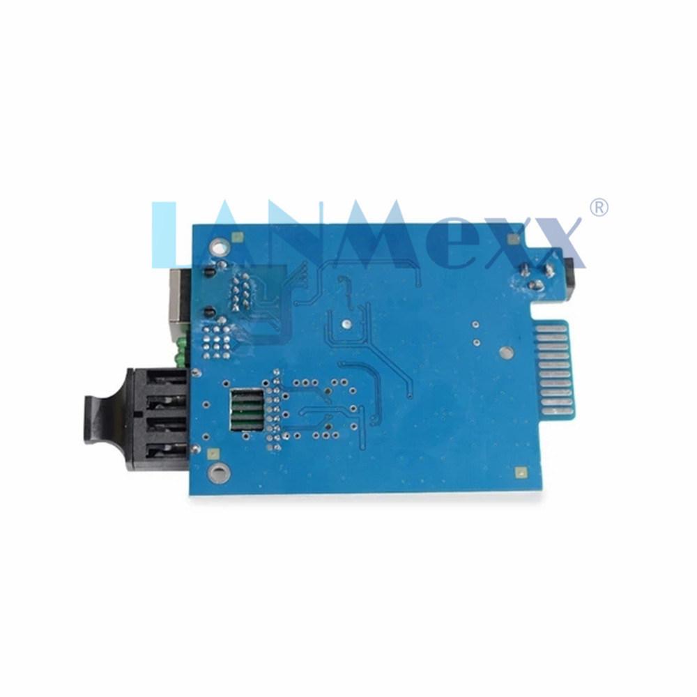 10/100/1000m Multi Mode Giga Type de carte à double fibre multimode mm Fibre optique Gigabit Ethernet usine Media Converter 850nm