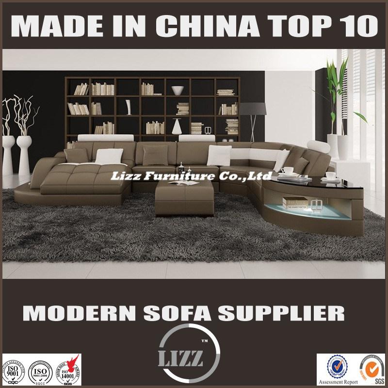 2017 Nueva forma de U Muebles de salón sofá cama (LZ 2217) – 2017 ...