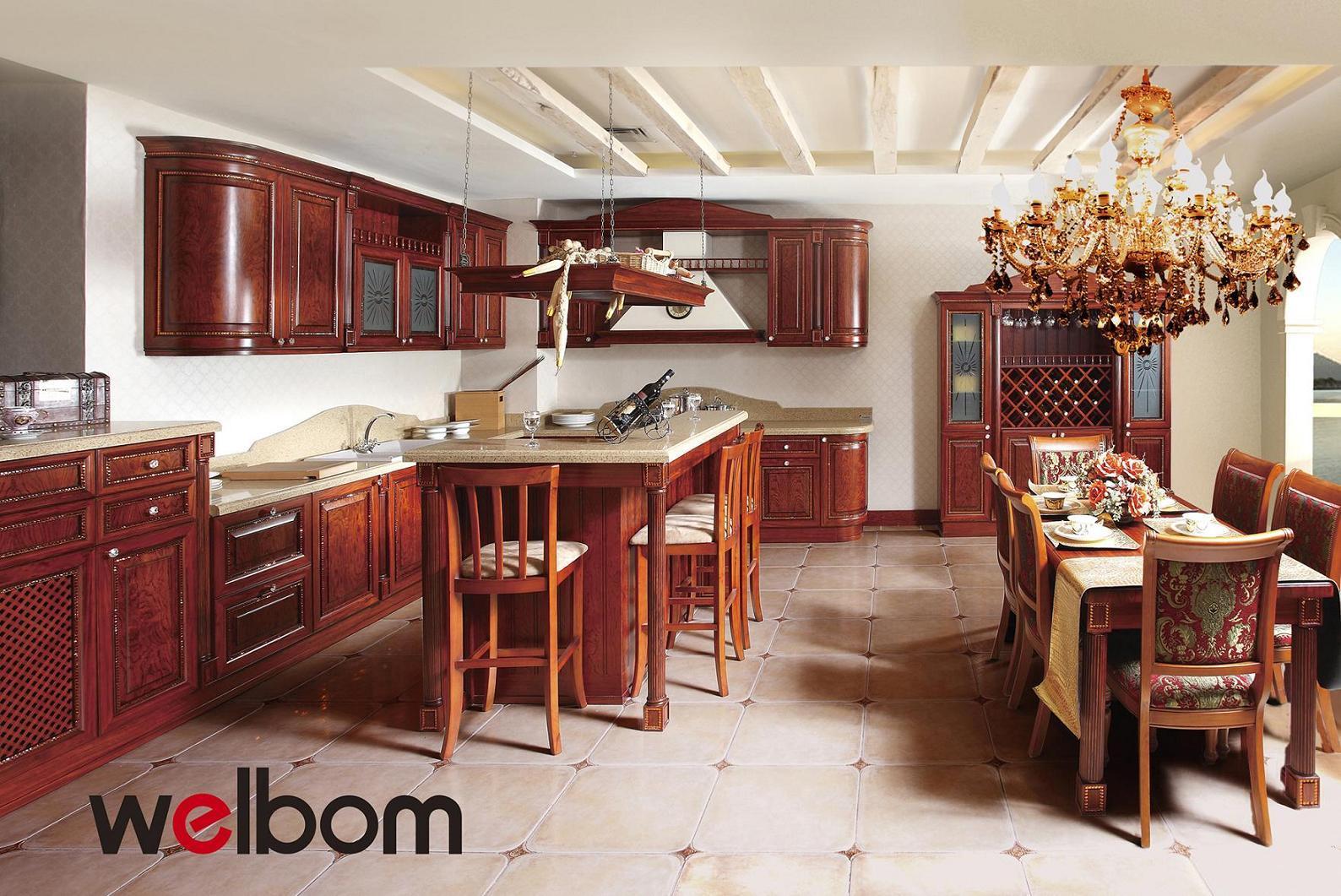 Foto de Muebles de cocina americana de arce de madera sólida mueble ...