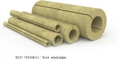 Felsen-Rohr, Steinstärken-Felsen-Wolle-Isolierungs-Rohr der wolle-50mm