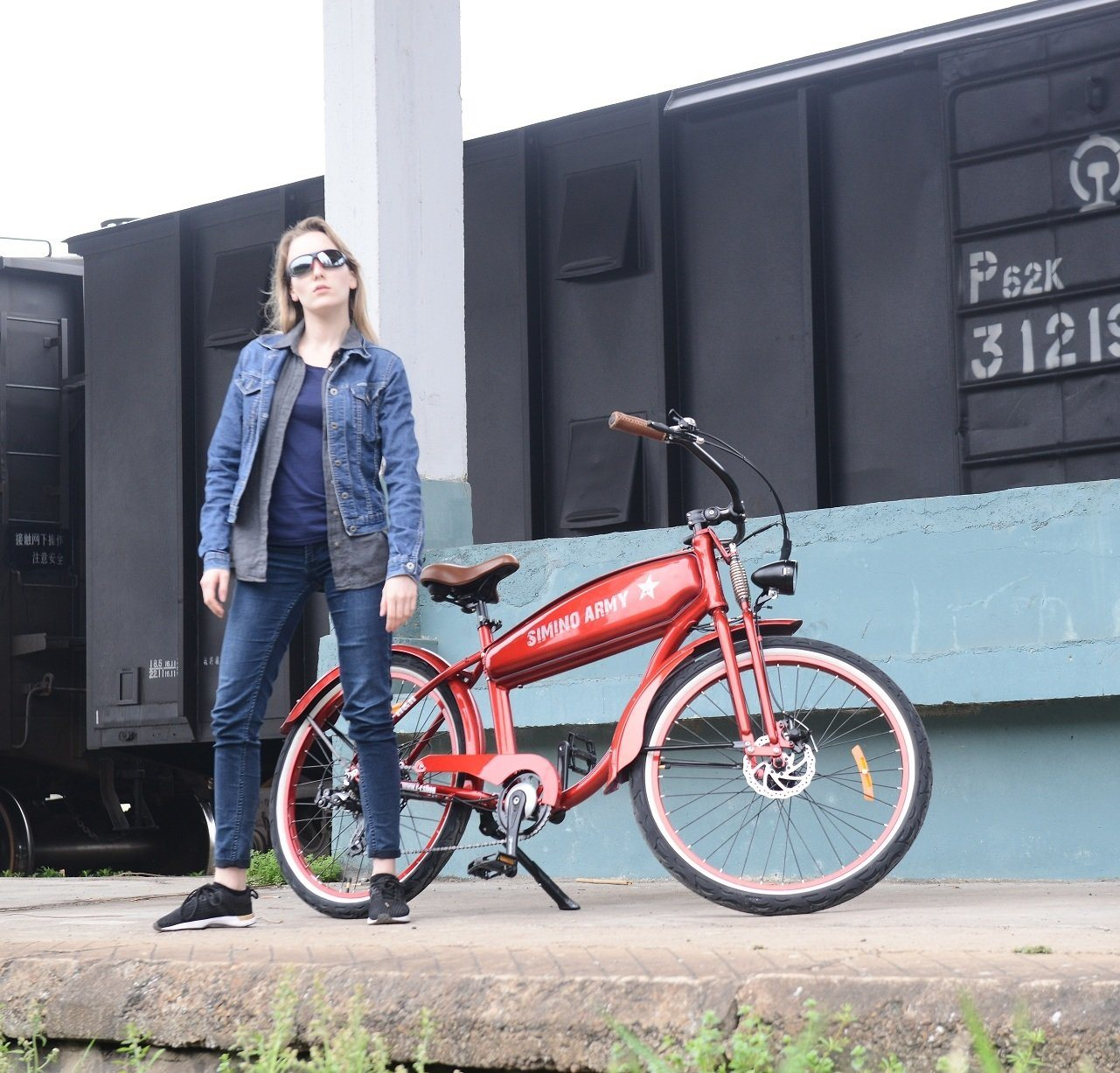 Bicicletta Elettrica Dellannata Del Vecchio Banco Di Stile Di