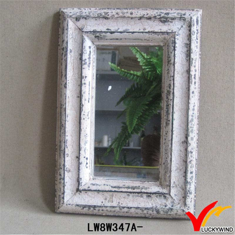 Foto de Chic desvencijado pequeño azul enmarcado espejos decorativos ...