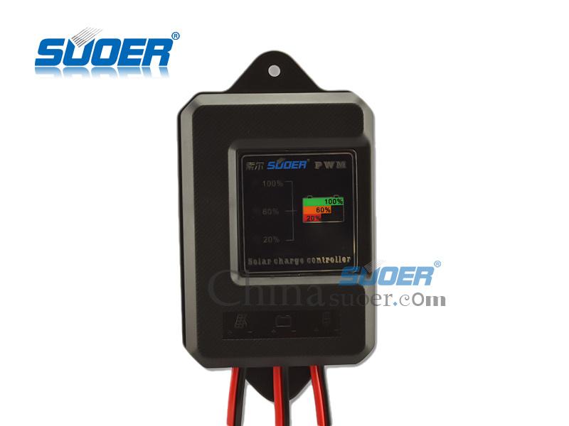 Suoer Fabricante 12V 10Un PWM Controlador de carga solar (ST-F1210A)