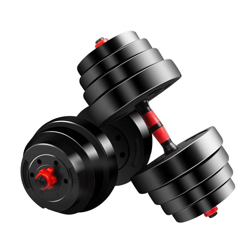 Salle de gym de l'équipement de levage de poids 40kg haltère 10kg haltère réglable