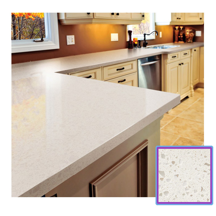 weißer/beige/kakifarbiger quarz-stein für küche-countertop, Badezimmer ideen
