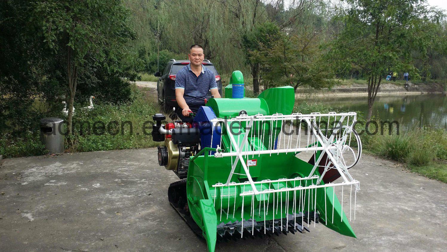 Preiswerter kleiner Weizen-Ernte-Maschinen-Reis-Mähdrescher für ...