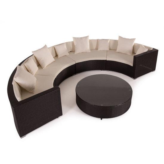 PE Rattan muebles de la Ronda exterior impermeable sofá mimbre ...