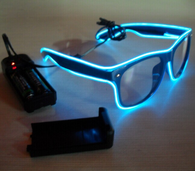 Ultra blaue Sonnenbrillen der Leuchte-LED heißeste EL-Draht-Gläser ...