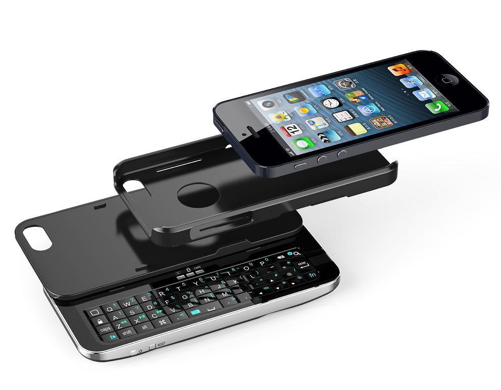iPhone 5 (KRSK03-IP5)를 위한 분리가능한 미끄러지고는 & 서 있는 Bt 키보드 상자