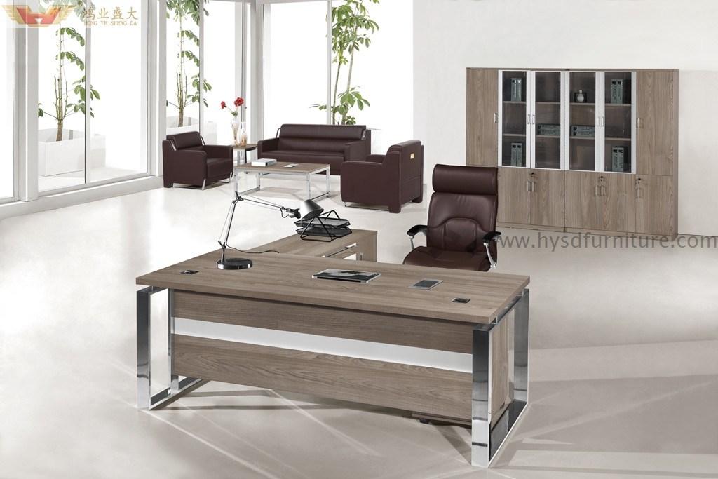 Foto de panel de madera melamina moderno escritorio for Mobiliario oficina moderno
