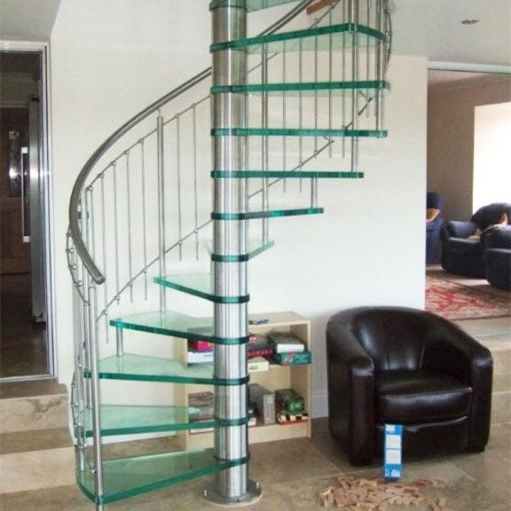 Foto de Espiral de alta calidad de diseño escaleras barandillas de ...