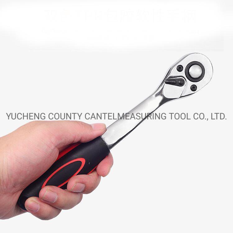 専門家1/2の適用範囲が広い管開いたPVCハンドルのステンレス鋼のラチェットのHandtoolセット