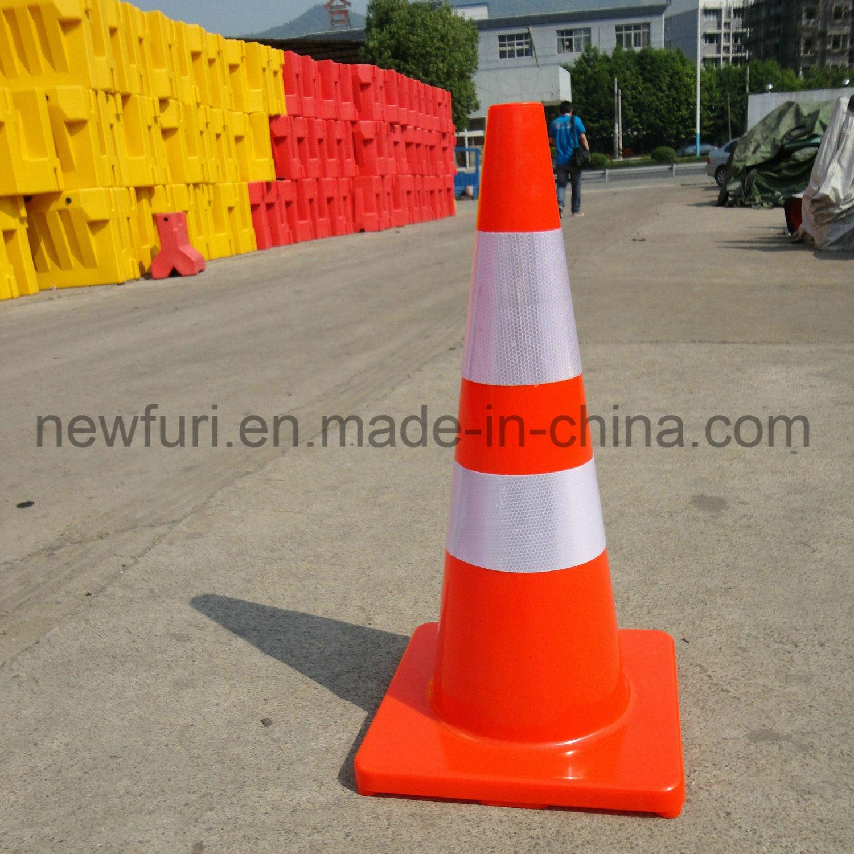75cm Orange PVC trafic cône signe de la sécurité routière –75cm ...