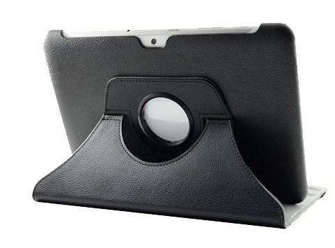Drehender Standplatz-Leder-Abdeckungs-Fall für Samsung-Galaxie versehen 2 10.1 '' P5100 mit Laschen (BST2004)