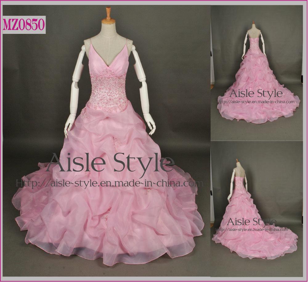 Extravagante burbuja Rosa vestido de novia vestidos de Prom (MZ0850 ...