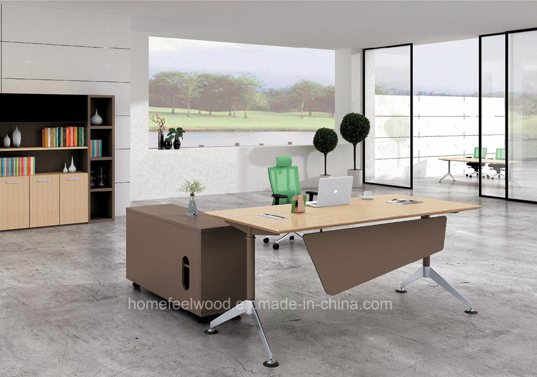 Forme de lérable bureau table de direction de bureau moderne hf