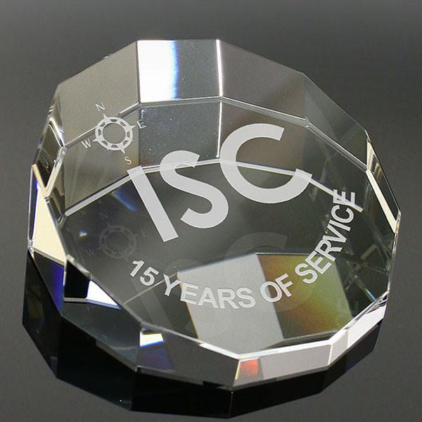 Foto de pisapapeles de cristal de vidrio el peso del for Regalos oficina