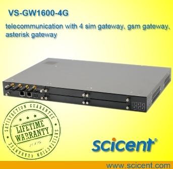 4 SIM Gateway、GSM Gateway、Asterisk Gatewayのテレコミュニケーション