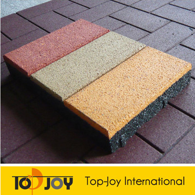 45mm Playground Rubber Floor Tiles mit Colorful EPDM Granules (RT-1100)