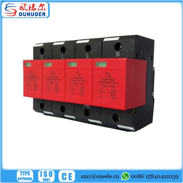 60KA Clase I 3P 4P +N Fuente de alimentación Protector
