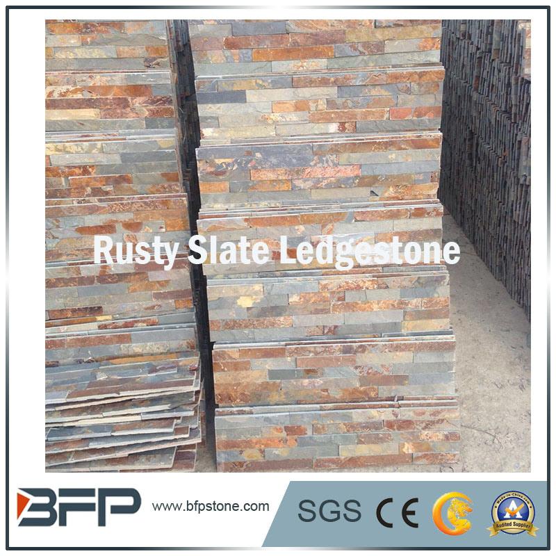 foto de pizarra oxidada natural fachada de azulejos para techo