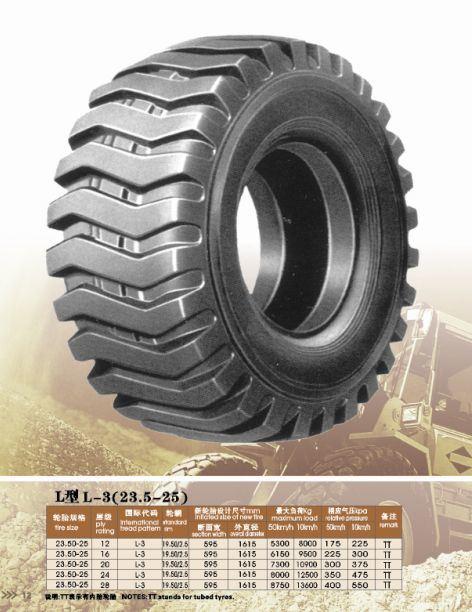 積込み機OTRのタイヤ(23.5-25、L3)